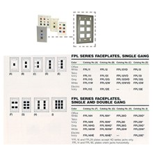 Hb-Fpl14Hı Fpl Series Faceplate, Single And Double Gang, Color: Telco Ivory, Fpl 16 Plate Accept Hd Series Jacks Only. - 1