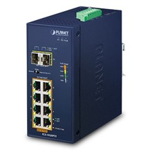 Pl-Igs-1020Ptf Industrial 8-Port 10/100/1000T 802.3At Poe + 2-Port 100/1000X Sfp Ethernet Switch (-40~75 Degrees C) - 1